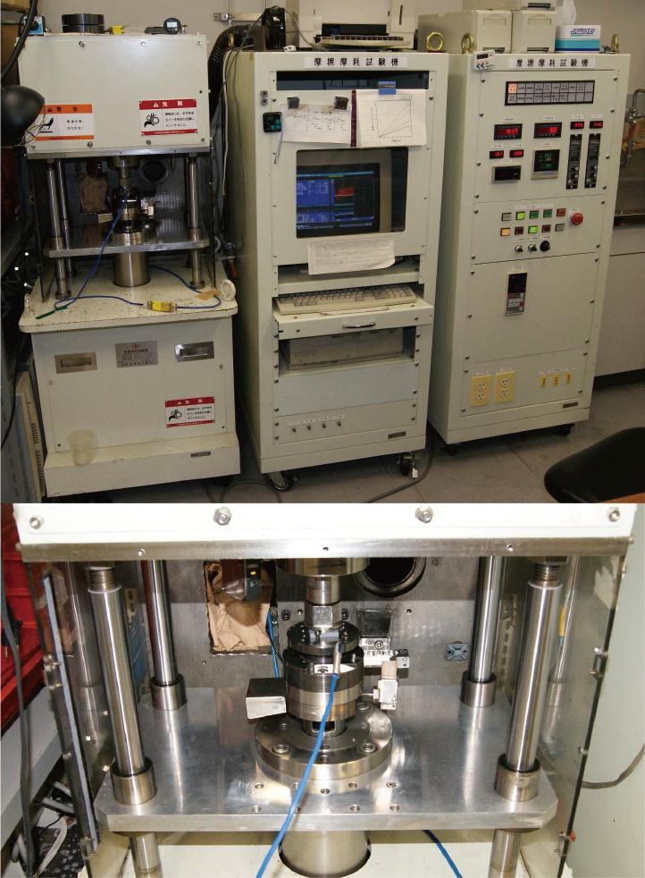 ピンオンディスク型摩擦摩耗試験機