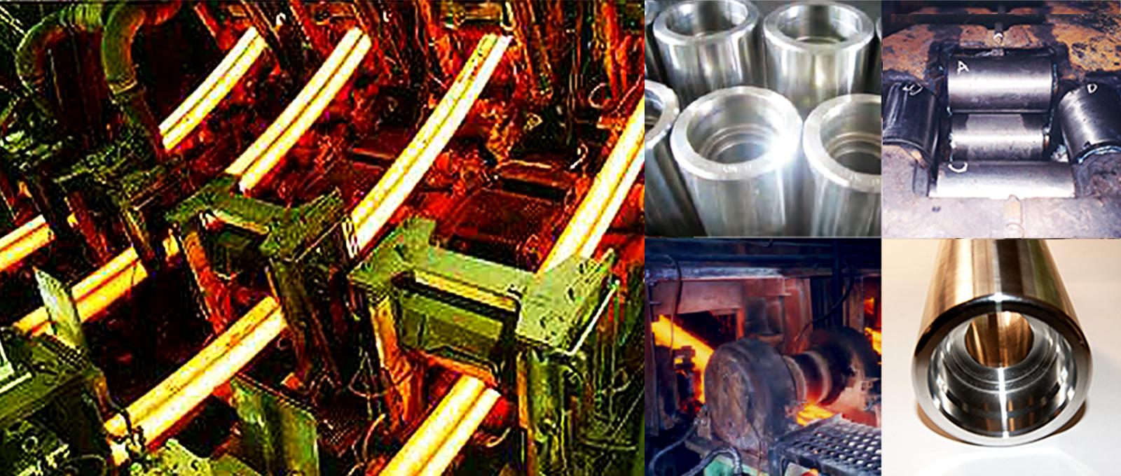 製鋼⽤連続鋳造⽤ローラー(シリコロイA2)